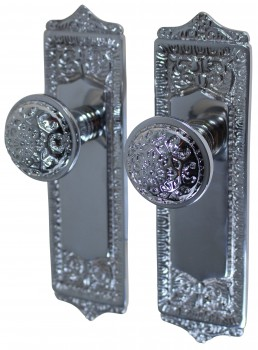 Door Knobs Chrome 2 38 Knob Passage Set Door Hardware Door Knob Sets Door Knob