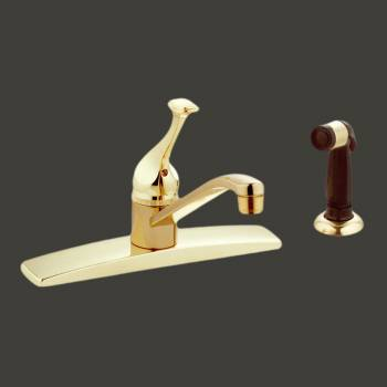<PRE>Brass Kitchen Faucet With Sprayer Centerset 1 Handle </PRE>zoom2