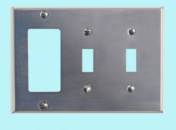 <PRE>Switchplate Satin Stainless Steel Double Toggle/GFI </PRE>zoom2