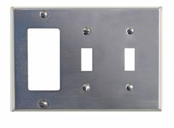 Switchplate Satin Stainless Steel Double Toggle/GFI 95814grid
