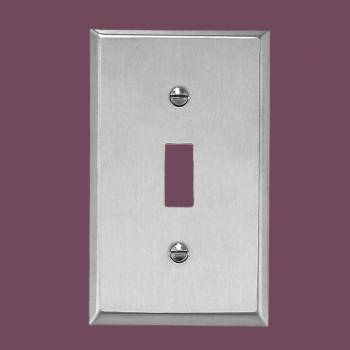 <PRE>Switchplate Brushed Stainless 1 Toggle Or Dimmer  </PRE>zoom2