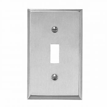 Switchplate Brushed Stainless 1 Toggle Or Dimmer  95822grid