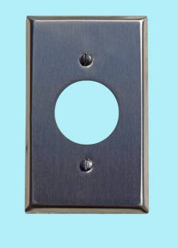 Switchplate Brushed Stainless Steel 1 Receptacle Switch Plate Wall Plates Switch Plates