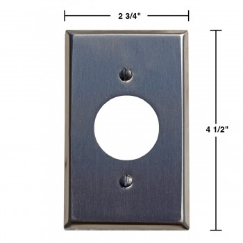 spec-<PRE>Switchplate Brushed Stainless Steel 1 Receptacle</PRE>