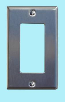 <PRE>Switchplate Brushed Stainless Steel Single GFI </PRE>zoom2