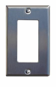 Switchplate Brushed Stainless Steel Single GFI 95836grid