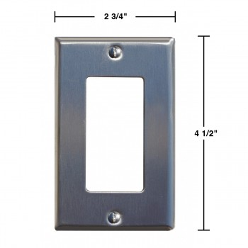 spec-<PRE>Switchplate Brushed Stainless Steel Single GFI </PRE>