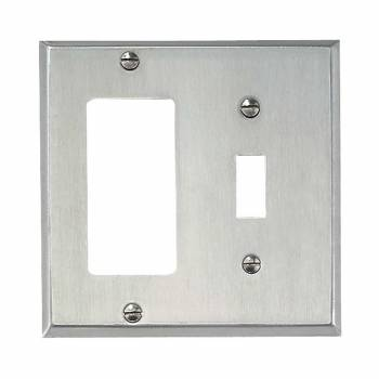 GFI Toggle Wall Plate Brushed Stainless Steel