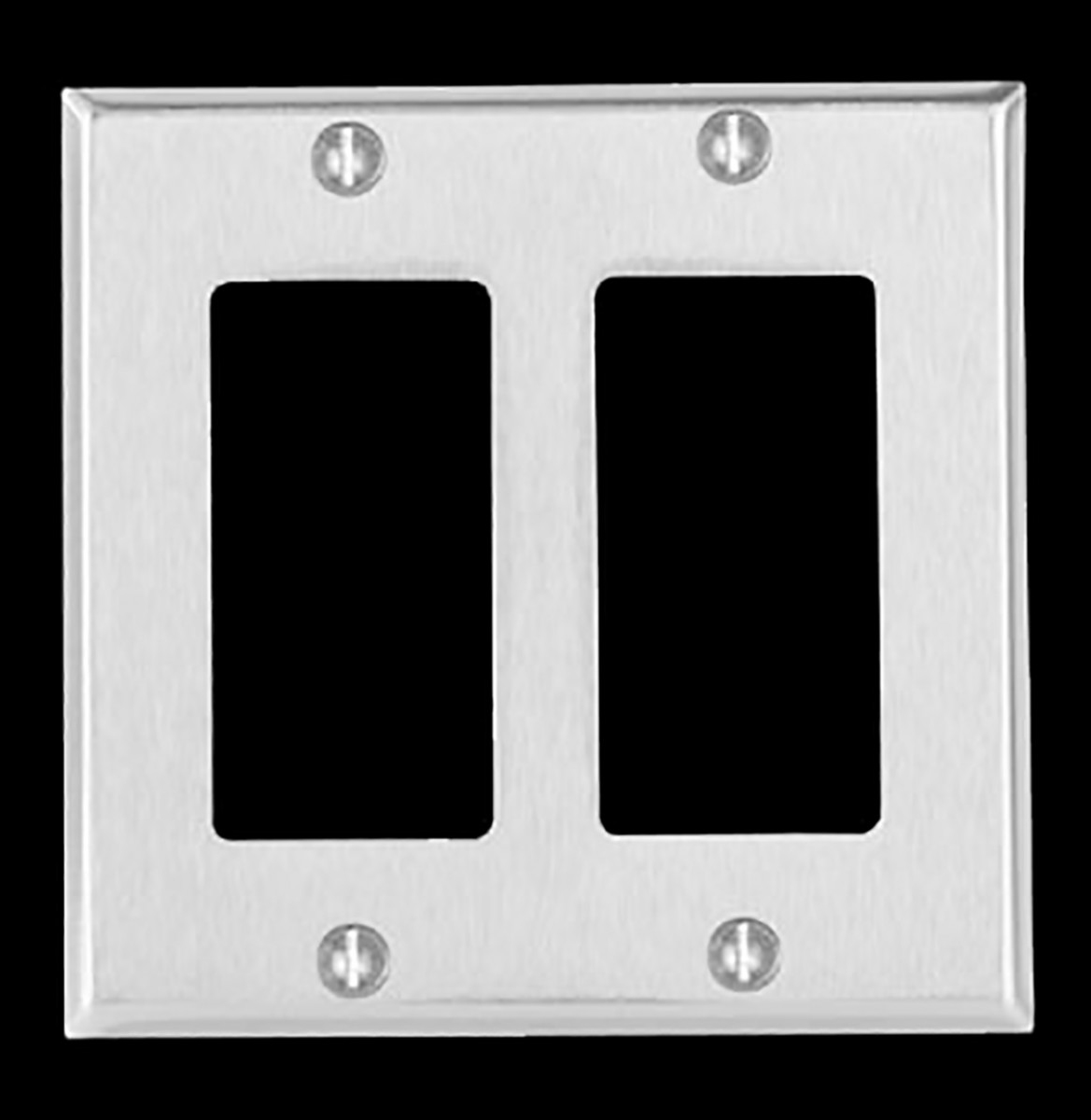 Switchplate Brushed Stainless Steel Double GFI Switch Plate Wall Plates Switch Plates
