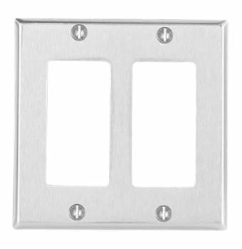 Switchplate Brushed Stainless Steel Double GFI 95840grid