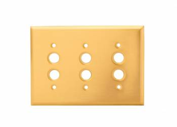 Switchplate Solid Brass Triple Push Button 95851grid