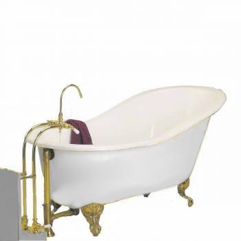 Clawfoot Tub Porcelain Slipper Clawfoot Tub Only No Feet 95856grid