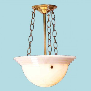 Alabaster Bowl Chandelier - Floor Heat Registers, Aluminum, steel, wood and brass Floor heat registers info & free shipping by Renovator's Supply.