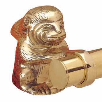 Bar Bracket Monkey Elbow Polished Brass
