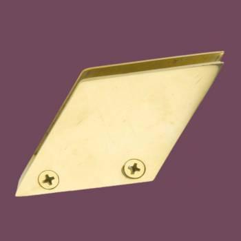 Bar Bracket Solid Brass Glass Railing Clip Holder 38 Glass Railing Clip Glass Clips Glass Retaining Clips