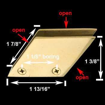 "spec-<PRE>Bar Bracket Solid Brass Glass Railing Clip Holder 3/8"" </PRE>"