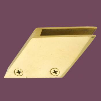 <PRE>Solid Brass Glass Railing Clip Holds 3/8inch Glass </PRE>zoom2