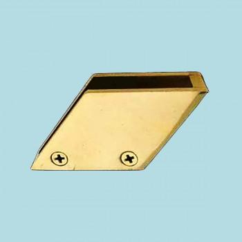 Bar Bracket Solid Brass Glass Railing Right Clip 38 Glass Railing Clip Glass Clips Glass Retaining Clips