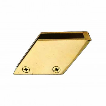 Glass Railing Clip Polished Brass Holds 3/8 in. Glass