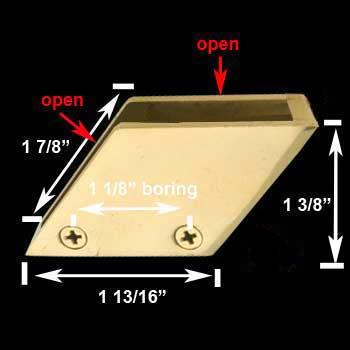 "spec-<PRE>Bar Bracket Solid Brass Glass Railing Right Clip 3/8"" </PRE>"