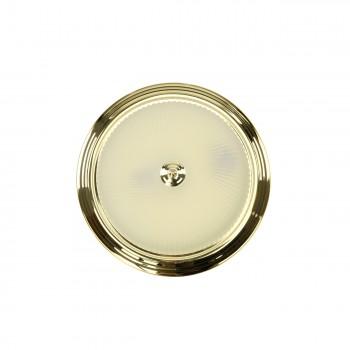<PRE>Ceiling Light Brass Flush Mount Frost Swirl 15 1/4 </PRE>zoom4