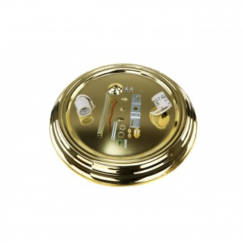 <PRE>Ceiling Light Brass Flush Mount Frost Swirl 15 1/4 </PRE>zoom7