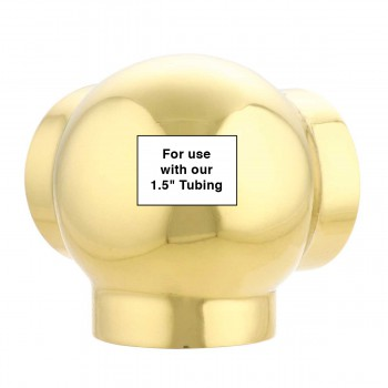 spec-<PRE>Tubing Connector Polished Brass Double L Connector Fit 1.5&quot; </PRE>
