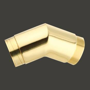 Tubing Connector Polished Brass Elbow 135 degree Fit 1.5 Railing Connectors Brass Railing Connector Brass Railing Connectors