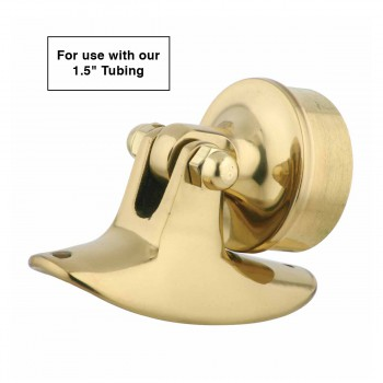 "spec-<PRE>Bar Bracket Polished Solid Brass Saddle Plug Fit 1.5"" Tube </PRE>"