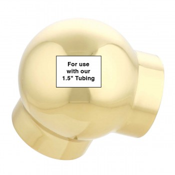 """spec-<PRE>Tubing Connector Polished Brass Ball L Connector Fit 1.5"""" </PRE>"""