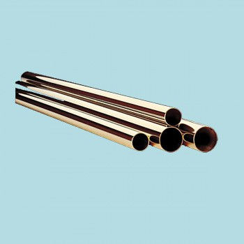 <PRE>Bar Rail Polished Solid Brass Tubing 1.5inch D x 2' L </PRE>zoom2