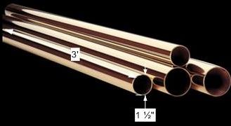 spec-<PRE>Bar Rail Polished Solid Brass Bar Rail Polished Brass Tubing 1 1/2 dia</PRE>