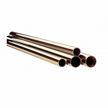 Heavy Duty Polished Solid Brass Bar Rail Tubing 1 1/2 in. dia x 6 ft. long95999grid