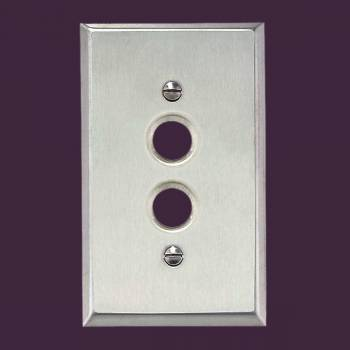 <PRE>Switchplate Brushed Stainless Steel 1 Pushbutton </PRE>zoom2