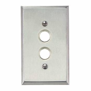 Switchplate Brushed Stainless Steel 1 Pushbutton 96030grid
