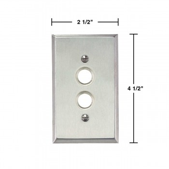 spec-<PRE>Switchplate Brushed Stainless Steel 1 Pushbutton </PRE>