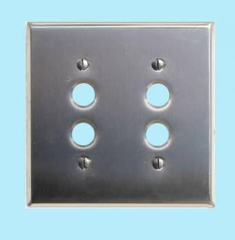<PRE>Switchplate Brushed Stainless Steel 2 Pushbutton </PRE>zoom2