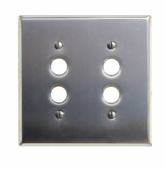 Switchplate Brushed Stainless Steel 2 Pushbutton 96031grid