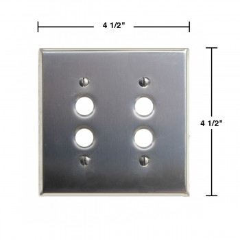 spec-<PRE>Switchplate Brushed Stainless Steel 2 Pushbutton </PRE>