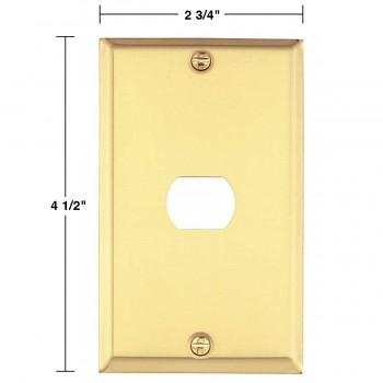 spec-<PRE>Switchplate Solid Brass 1 Interchangeable/Despard </PRE>