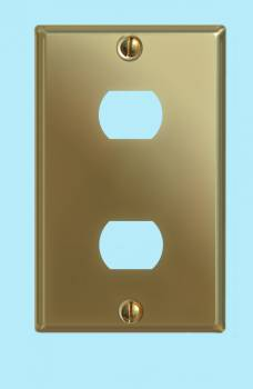 <PRE>Switchplate Solid Brass Dbl Interchangeable/Despard </PRE>