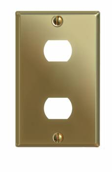 Switchplate Solid Brass Dbl InterchangeableDespard