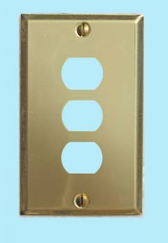 <PRE>Switchplate Solid Brass 3 Interchangeable/Despard </PRE>