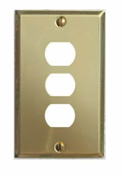 Switchplate Solid Brass 3 Interchangeable/Despard 96034grid