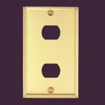 <PRE>Switchplate Brushed Brass 2 Interchangeable/Despard </PRE>zoom2