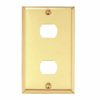Switchplate Brushed Brass 2 InterchangeableDespard