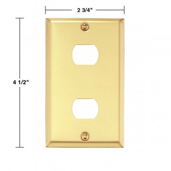 spec-<PRE>Switchplate Brushed Brass 2 Interchangeable/Despard </PRE>