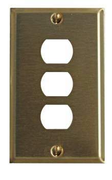 Switchplate Brushed Brass 3 Interchangeable/Despard 96037grid