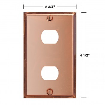 spec-<PRE>Switchplate Solid Copper 2 Interchangeable/Despard </PRE>