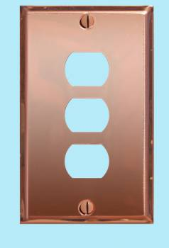 spec-<PRE>Switchplate Solid Copper 3 Interchangeable/Despard </PRE>